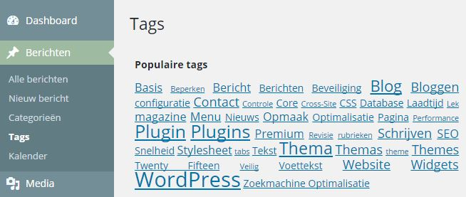 Tags Overzicht WordPress Magazine