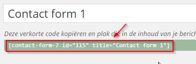 WordPress Contactformulier code