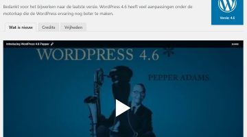WordPress 4.6 is nu beschikbaar! Upgraden dus…