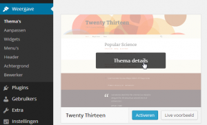 WordPress Theme Details